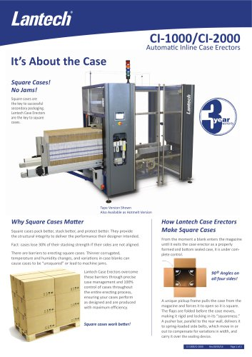 Inline Case Erector