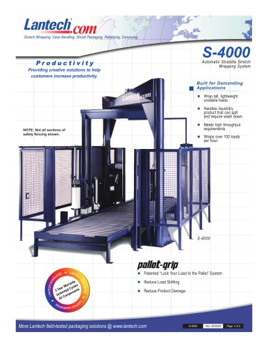 S-4000 / Automatic Straddle Stretch Wrapping System