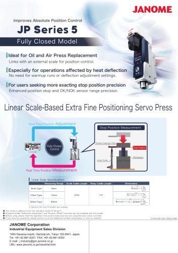 JP Series 5 Servo Press Fully Closed Model