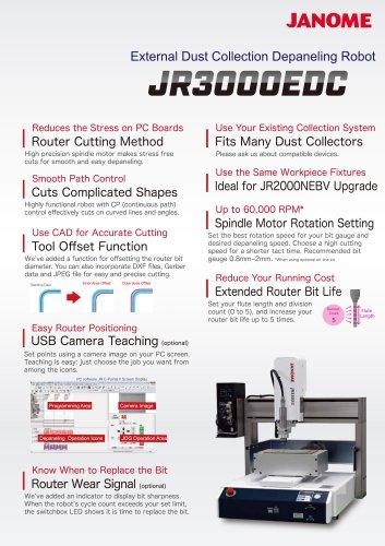 JR3000EDC External Dust Collection Depaneling Robot
