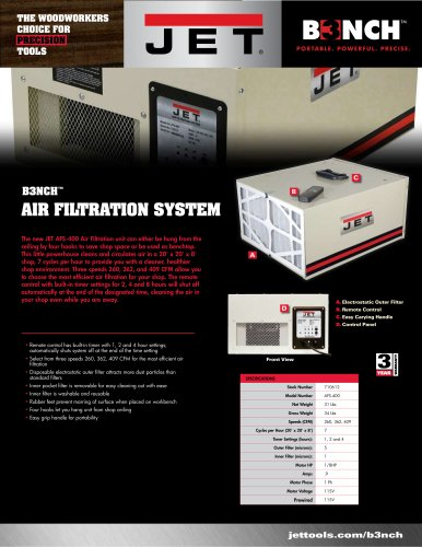 AFS-400 Benchtop Air Filtration System