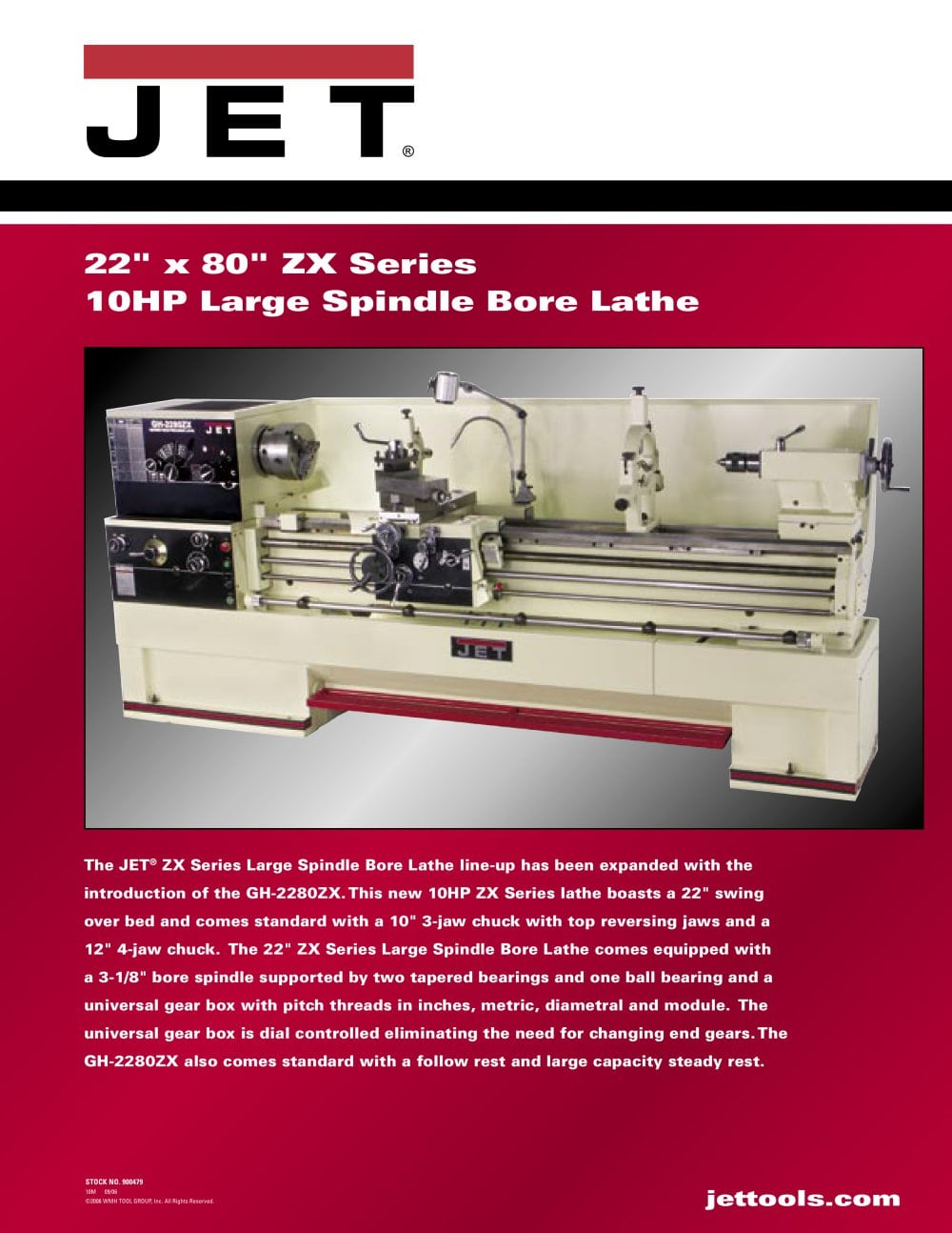 Gh 2280zx Wmh Tool Group Pdf Catalogue Technical Documentation Reversing A Lathe 1 2 Pages