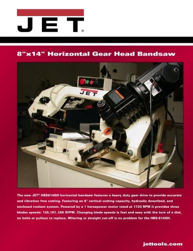 """HBS-814GH, 8"""" x 14"""" Geared Head Horizontal Bandsaw 1HP, 1Ph"""