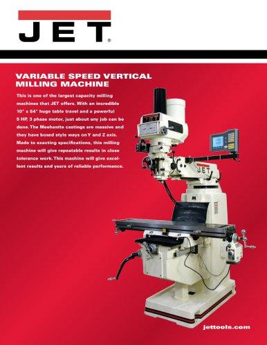 Variable Speed Vertical Milling Machine