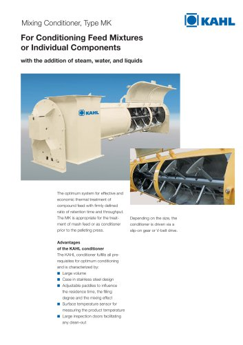 AK27 For Conditioning Feed Mixtures or Individual Components