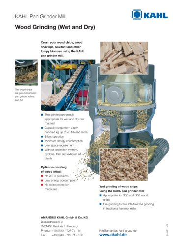KAHL Pan Grinder Mill - Wood Grinding (Wet and Dry)