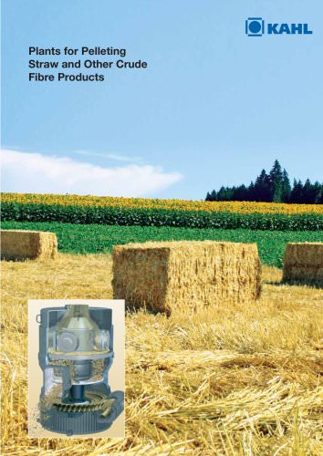 Plants for Pelleting Straw and Other Crude Fibre Products