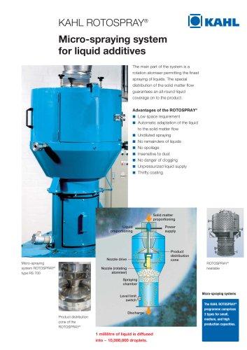 Rotospray® - Micro-spraying system