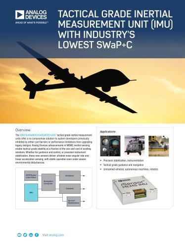 ADIS16490 / ADIS16495 / ADIS16497: Tactical Grade Inertial Measurement Unit (IMU) with Industry's Lowest SWaP+C