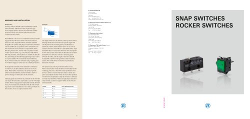 Switches Product Catalogue