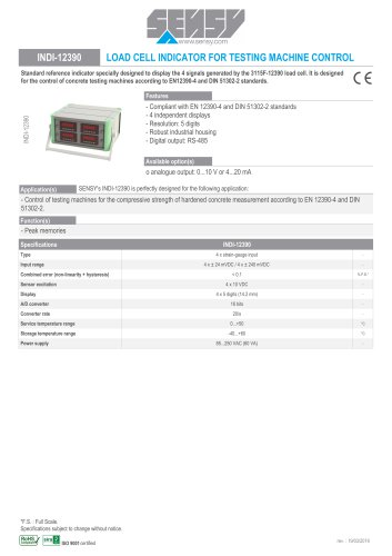 INDI-12390 : LOAD CELL INDICATOR FOR TESTINNG MACHINE CONTROL