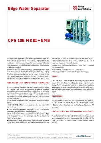 CPS 10B MKIII + EMB Bilge Water Separator