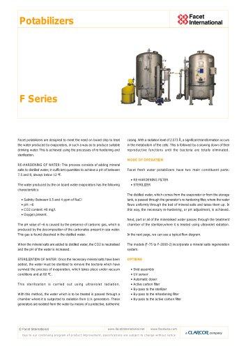 F Series potabilizers