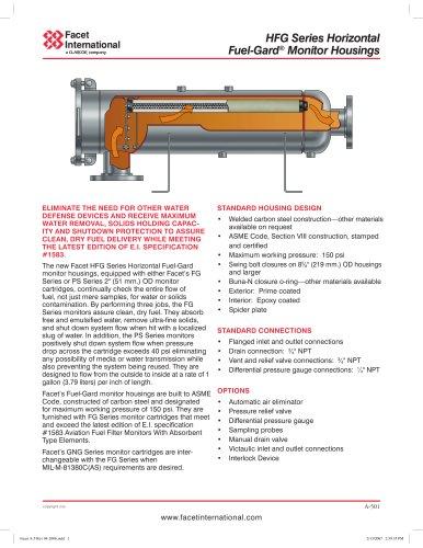 HFG Series horizontal Fuel-Gard® monitor housings