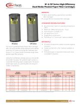 M & CIF Series High Efficiency Dual Media Pleated Paper Filter Cartridges