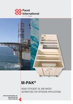 M-Pak brochure with details about oil-water separation in offshore applications