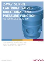 2-Way Slip-in Cartridge Valves Directional and Pressure Function