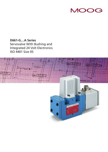 D661-G...A Series Servo Valve with Bushing and Integrated 24 Volt Electronics ISO 4401Size 05