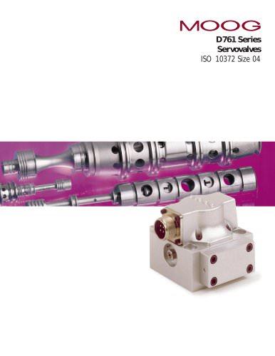 D761 Series Servovalves ISO 10372 Size 04
