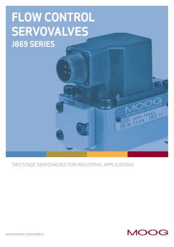 FLOW CONTROL SERVOVALVES J869 SERIES