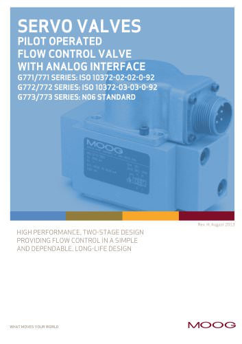 PILOT OPERATED FLOW CONTROL VALVE WITH ANALOG INTERFACE
