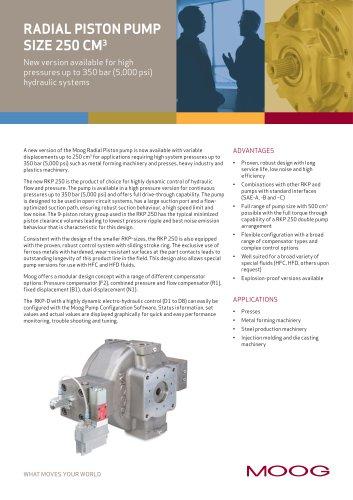 Radial Piston Pump Size 250 cm^3