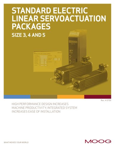 STANDARD ELECTRIC LINEAR SERVOACTUATION PACKAGES