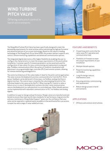 Wind Turbine Pitch Valve
