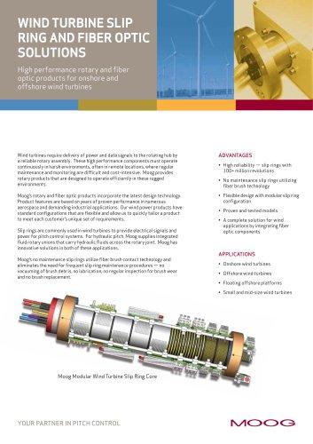 WIND TURBINE SLIP RING AND FIBER OPTIC SOLUTION