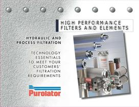 HIGH PERFORMANCE FILTERS AND ELEMENTS