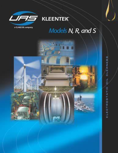 Electrostatic Oil Cleaners - Kleentek Models N, R, & S