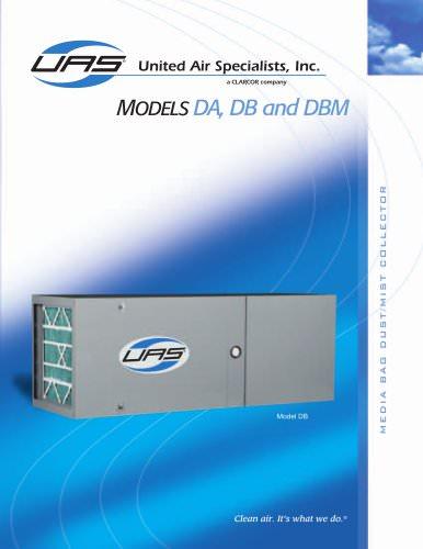 Media Bag Dust / Mist Collectors - Models DA / DB / DBM