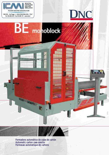 CARTONS ERECTOR MACHINES LEAFLETS: Fully Automatic BE-Monoblock
