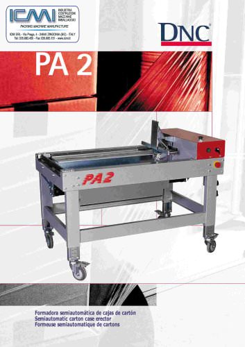 CARTONS ERECTOR MACHINES LEAFLETS: Semi-Automatic PA-2