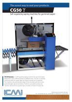 CG 50 / G - Self-regulating taping machine for gummed paper
