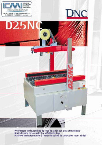 DNC's taping machines for self-adhesive tape D25