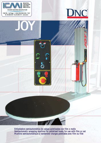 WRAPPING MACHINES LEAFLETS: Semi-Automatic JOY