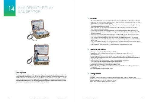 gas dendity relay calibrator