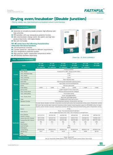 Doubel Fuction Drying Oven Incubator