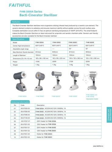 FHM-3000A Series Bacti-Cinerator Sterilizer
