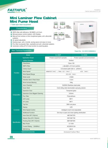 Mini Laminar Flow Cabinet Mini Fume Hood