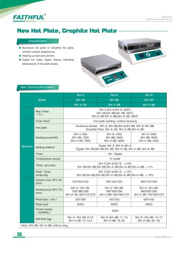 New Hot Plate Graphite Hot Plate