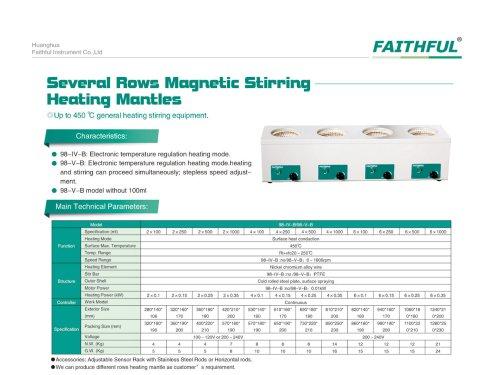 Several Rows heating mantles