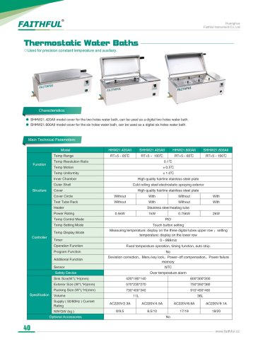 Thermostatic Water Baths