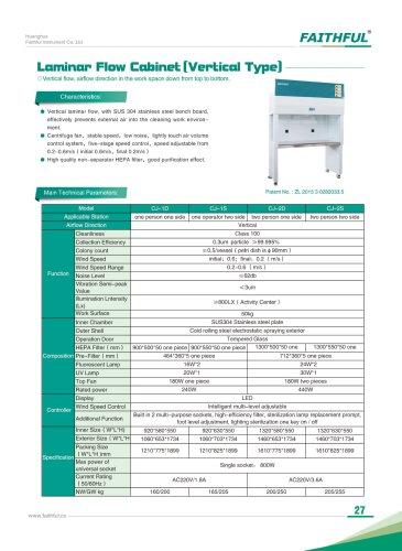 Vercital Laminar Flow Cabinet