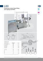 L60 continuous motion liquid filling/capping monobloc