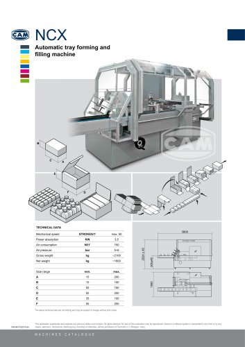 NCX automatic tray forming and filling machine