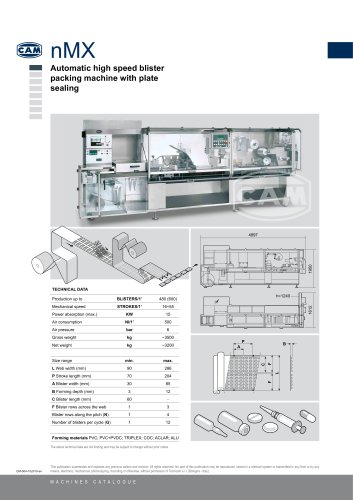 nMx automatic blister packing machine