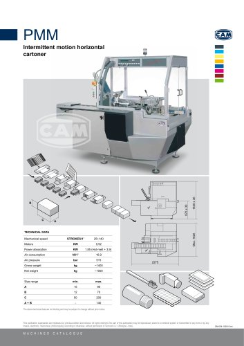 PMM intermittent motion horizontal cartoner