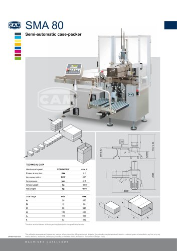SMA80 semi-automatic case packer